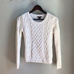 H&M cream cable sweater